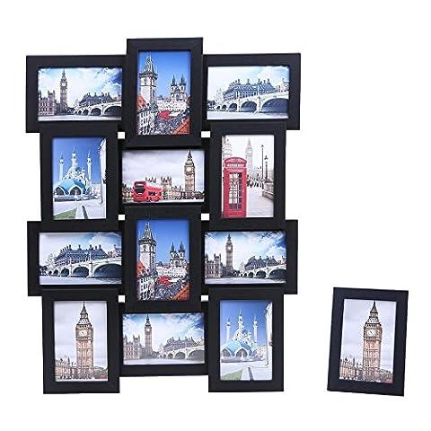 Songmics Cadre Photo Pêle-mêle Mural en MDF Capacité de 12