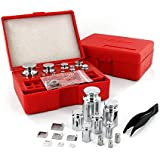 Smart Weigh Calibration Weight Kit, Includes 50g, 2x20g, 10g, 5mg, 2x2mg, 1mg and 8 Different Sizes Milligram Calibration Weights, and a Set of Tweezers