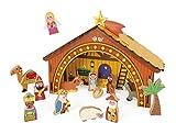 Janod J04538 - Holzkrippe Weihnachten