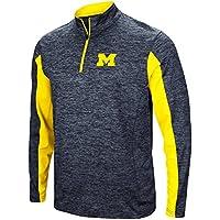 "Michigan Wolverines NCAA ""Turn Two"" 1/4 Zip Pullover Men's Wind Shirt"