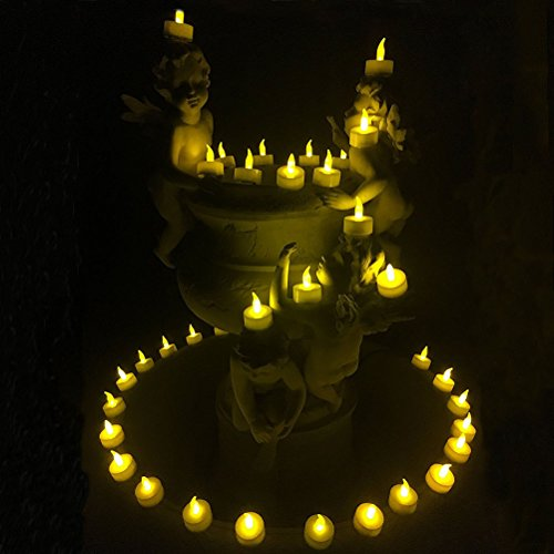 LEDMOMO Flameless LED Tea Light Candles, 36 Pack LED Candle Lights con pilas para Halloween, Navidad, Fiesta, Festival.