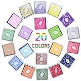 Tampone di Inchiostro,Fascigirl 20 colore Ink Pad Rainbow DIY Tampone Inchiostro Colorato Timbri per Bambini Timbro Cuscinetto Carta, Legno, Tessuto, Scrapbooking