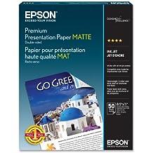 """Epson Premium Presentation Paper Matte, Double-sided - Letter - 8.5"""" x 11"""" - 50 Sheets - Papel fotográfico (Double-sided - Letter - 8.5"""" x 11"""" - 50 Sheets, 8.5 x 11"""")"""