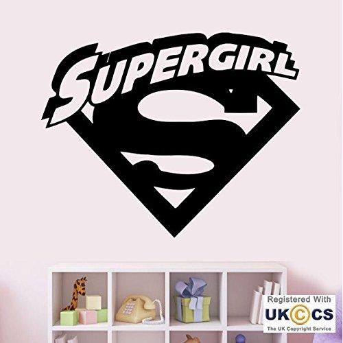 (Super Girl Super Man Cartoon-Superheld-Wand-Kunst-Aufkleber-Abziehbilder Vinyl-Hauptraum Schlafzimmer Junge Mädchen Kinder Erwachsene Heim Wohnzimmer Zitate Küche Badezimmer Wandaufkleber)