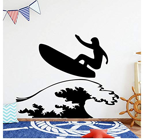 Kreative wand Lustige Surfen Wandkunst Aufkleber Wandaufkleber Material Wohnzimmer Kinderzimmer Aufkleber Wandbild Schlafzimmer Dekor