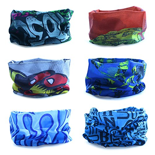 Multiuso Fascia Bandana Scaldacollo Foulard - Datechip 12 in 1 Sports Buff scaldacollo, Face shield, Fascia Capelli, Balaclava, Scaldacollo moto, Donne, Uomo, Bamb