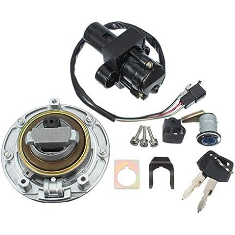 Ungfu Mall Accensione Fuel Gas Cap Cover Set serratura con 2chiavi per Honda CBR900RR 919rr
