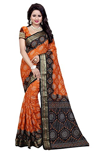 Dealsure Women\'s Multicolor Art Silk Bandhani Saree