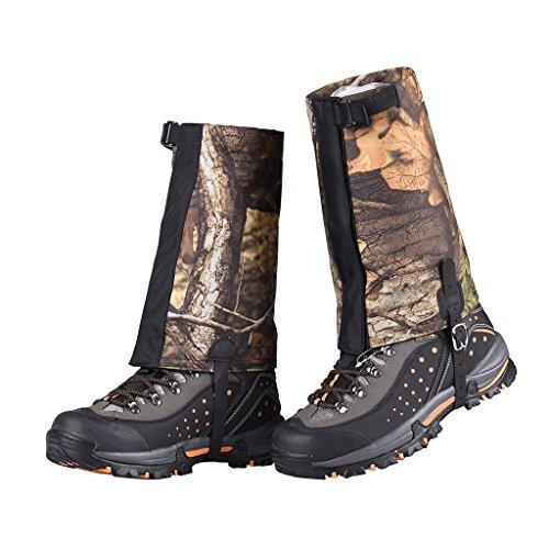 Outdoor Gamaschen Snow Legging Gaiters für Wandern, Klettern und Schneewandern Bergsteigen Jagd Schnee Legging, 1 Paar (Kurz Typ) (Front-wetter-stiefel)