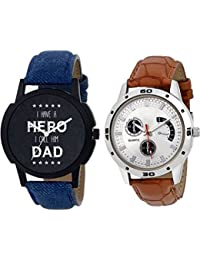 Kairos Analogue Round Dial Leather Strap Latest Combo Wrist Watches - For Men