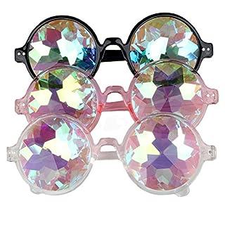 AFUT Kaleidoscope Steampunk Goggles Rainbow Prism Sunglasses Goggles