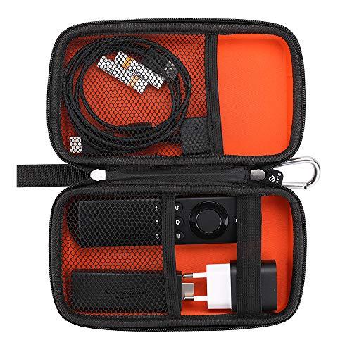 Fintie Tasche für Amazon Fire TV Stick Fernbedienung / Sprachfernbedienung Reisen / Adapter / Kabel - Schutzbeutel Tragetasche stoßfest Reisetasche aus Eva zum Verstauen elektronischen Zubehör