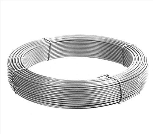 Fil de tension galvanisé, diamètre 2,2 mm, pour clôture en treillis, couronne de 100 m
