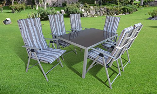"13-teilige absolut wetterfeste Gartenmöbelgruppe ""Star"", Aluminium Textilen, aus dem Hause Siena Garden – Gode"