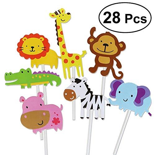 BESTONZON - 28 púas Decorativas para decoración de Pasteles, Pasteles, Postre, decoración para Boda, cumpleaños, Fiesta