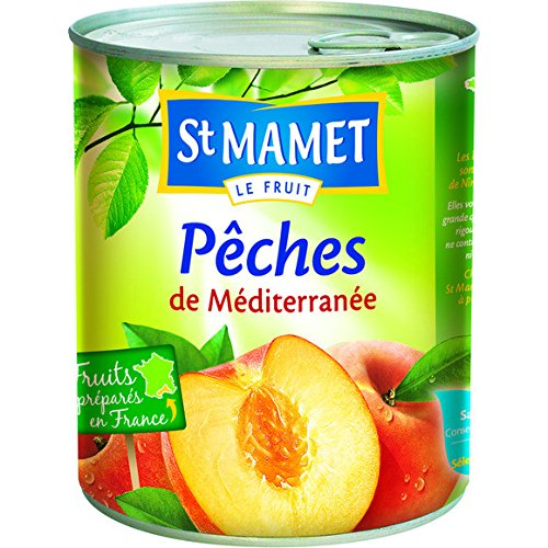 st mamet Pêches demi-fruits au sirop - ( Prix Unitaire ) - Envoi Rapide Et Soignée
