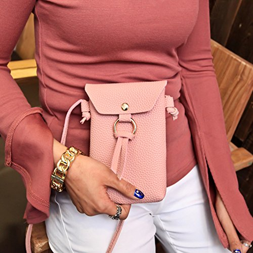 Bluelans, Borsa a tracolla donna, Pink (Rosa) - D8L9H7E5115549LJ0 Pink