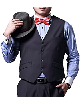 Zhuhaitf Negocio Formal Mens Plus Size Blazer Suit Vests Button Sleeveless Waistcoat