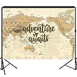 musykrafties Aventure Vous Attend Toile de Fond Grande Table de Dessert Décoration de Bannière Fond photobooth Prop 7x 5Pieds