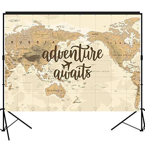 musykrafties Adventure Awaits Kulisse groß Banner Dekoration Dessert Tisch Hintergrund Fotobooth Requisite 17,8 x 152 cm