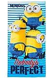 Universal Studios Minions Minions- Tolle Geschenkidee für Kinder - Handtuch/Saunatuch/Strandtuch/Duschtuch/Badetuch - 70 x 140 cm - 100% Baumwolle - TP04