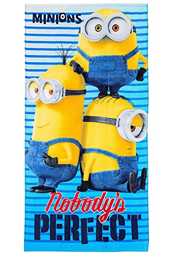Universal Studios Minions Minions- Tolle Geschenkidee für Kinder – Handtuch/Saunatuch/Strandtuch/Duschtuch/Badetuch – 70 x 140 cm – 100% Baumwolle – TP04
