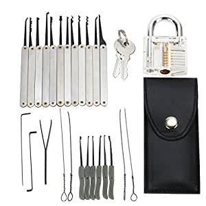 lockpicking set lomatee dietriche set 15 teiliges pick set 10 teiliges schl ssel extraktor. Black Bedroom Furniture Sets. Home Design Ideas