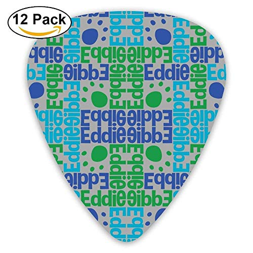 Ersonalised Name Design Guitar Picks For Electric Guitar 12 Pack