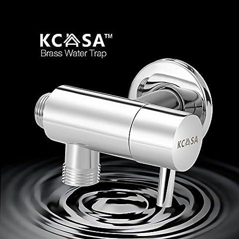 Paleo KCASA™ latón rotación de 360 ° trampa nocaut agua interruptor de tres vías de desvío del agua de baño válvula de