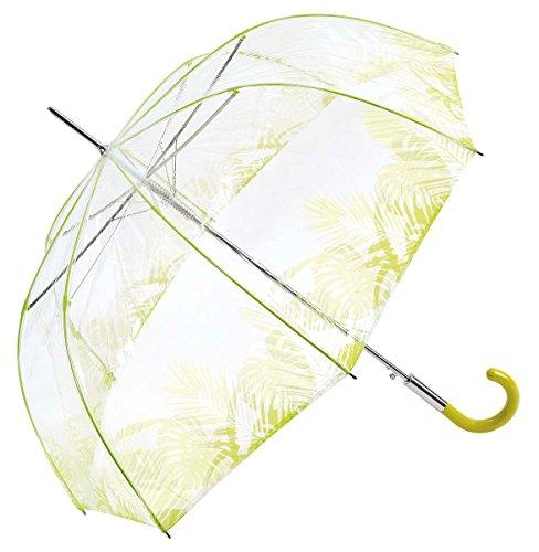 Le Monde du Parapluie Paragua clásico, transparente (Transparente) - BISETTI34170TROPICALVERT Le Monde du Parapluie