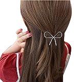 GNYD Damen Elegante Mode Geometrische durchbrochene Schmetterlings-Haarnadel-Haarspange-Kopfschmuck-Haar-Zusätze (Silber)