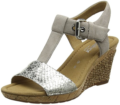Gabor Shoes Comfort Sport, Sandales Bride Cheville Femme, Gris (Light Greystrass), 41 EU