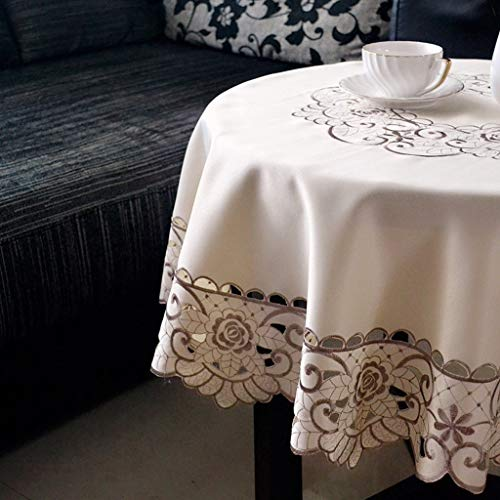 NNPE (TLMT) Table Floral Anti-Hot Tischdecke High-End Tischdecke Garden Small Square Tisch Fresh Round Continental Rechteckig (Size : Rond 175cm) -