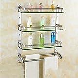 badezimmer glasregal Badezimmer Regal / 304 Edelstahl Bad Glasregal Wand montiert Größe: 40 * 66 cm, 50 * 66 cm, 60 * 66 cm ( größe : 40 cm )