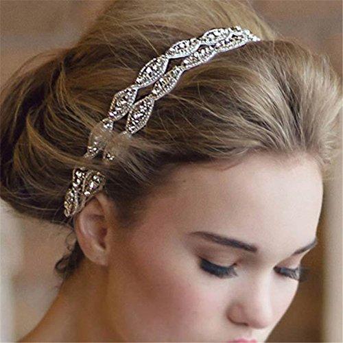 Butterme Double Strip Diamant Braut Brautschmuck Zubehör Haar Kopf Band tragen Strass Schmuck Kopfschmuck Haarband Tiara