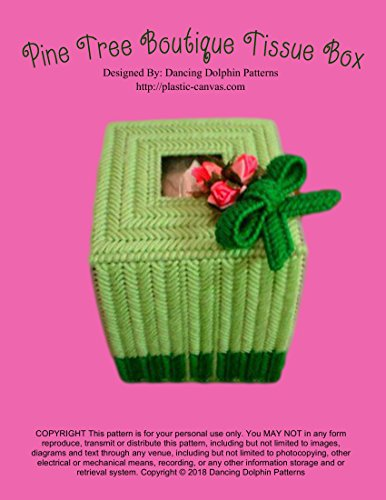 Pine Tree Boutique Tissue Box Cover: Plastic Canvas Pattern (English Edition) (Topper Tree Bow)