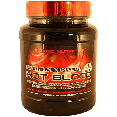 Scitec Nutrition Hot Blood 3.0 820 gr - Sabor - Naranja-Maracuyá