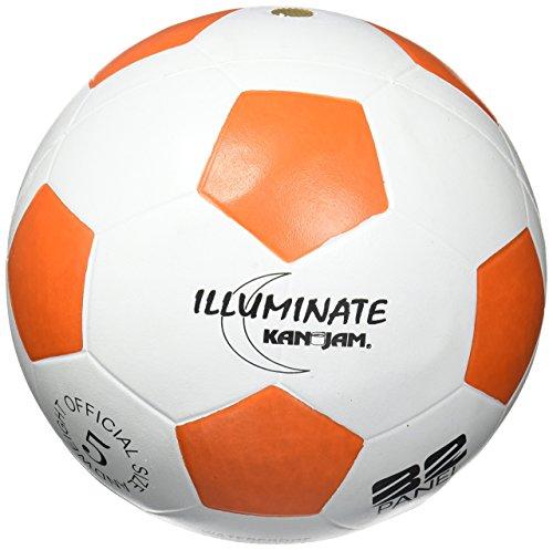 b-1 Illuminate Ultra-Bright LED Light-up Glow Soccer Ball, White, Size 5 (Light Up Soccer Balls)