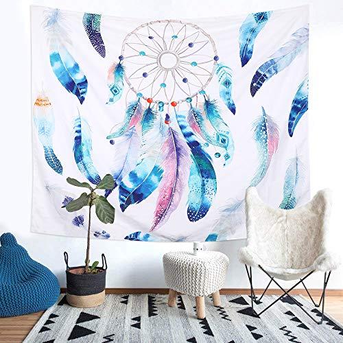 dremisland tapiz colgar en la pared de atrapador de sueños de plumas de alce playa Hippie India Mandala Tapices Art de flores manta, Pattern 2, M/150x130cm(59x52inch)