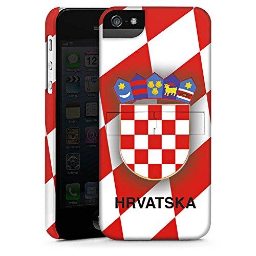 Apple iPhone X Silikon Hülle Case Schutzhülle Kroatien EM Trikot Fußball Europameisterschaft Premium Case StandUp
