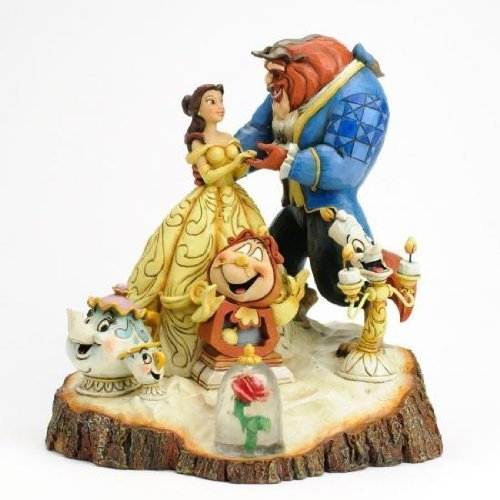 Disney Tradition Beauty and the Beast Tale as Old as Time [parallel import goods] Enesco wood carving-like figure Jim Shore (japan import) (Japan Carving)