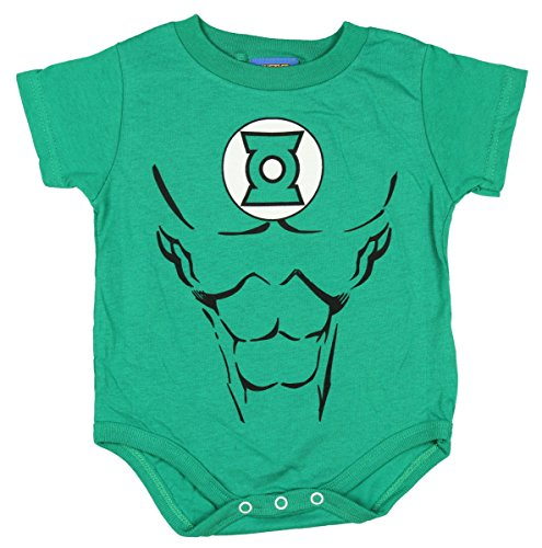 Tv Store Green Lantern Uniform Kostüm Kelly grün Kleinkind Onesie Baby Strampler (12 Monate) (Green Lantern Kostüme Uk)