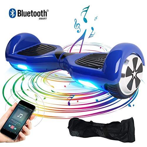 "BEBK Elektro Scooter, 6.5\"" Hoverboard, Self Balance Scooter mit Bluetooth Lautsprecher, 2 * 250W Motor, LED Lights (Blue)"