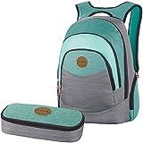 DAKINE 2er SET Laptop Rucksack Schulrucksack 25l PROM + SCHOOL CASE Mäppchen Solstice