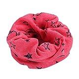 Fazzoletto da collo per bambini, Absolute Multicolor, caldo cotone, sciarpa ragazzi, ragazze, inverno, scaldacollo, sciarpa loop 42-45cm Hot Pink