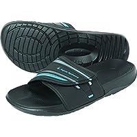 Aqua Sphere Unisex Domino Sandals-Black/Royal Blue, Size 40