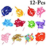 Joyibay 12PCS 6.56ft Kids Dance Ribbon Gymnastic Ribbon Wand Dance Streamer for Dancing