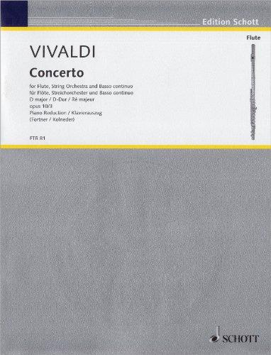 Concerto d-Dur Op 10/3 F 6/14 Rv 428 Pv 155 - Fl Orch. Flöte, Klavier (Flöte Concerto)