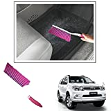 #7: Vheelocityin Shiny Pink Hard And Long Bristles Carpet/ Interior Car Cleaning Brush For Toyota Fortuner New