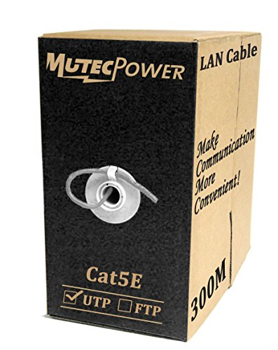MutecPower CAT5E Indoor Ethernet RJ45 300M - CCA - Internet Router Web Netzwerk-Patchkabel LAN-Kabel 1000ft